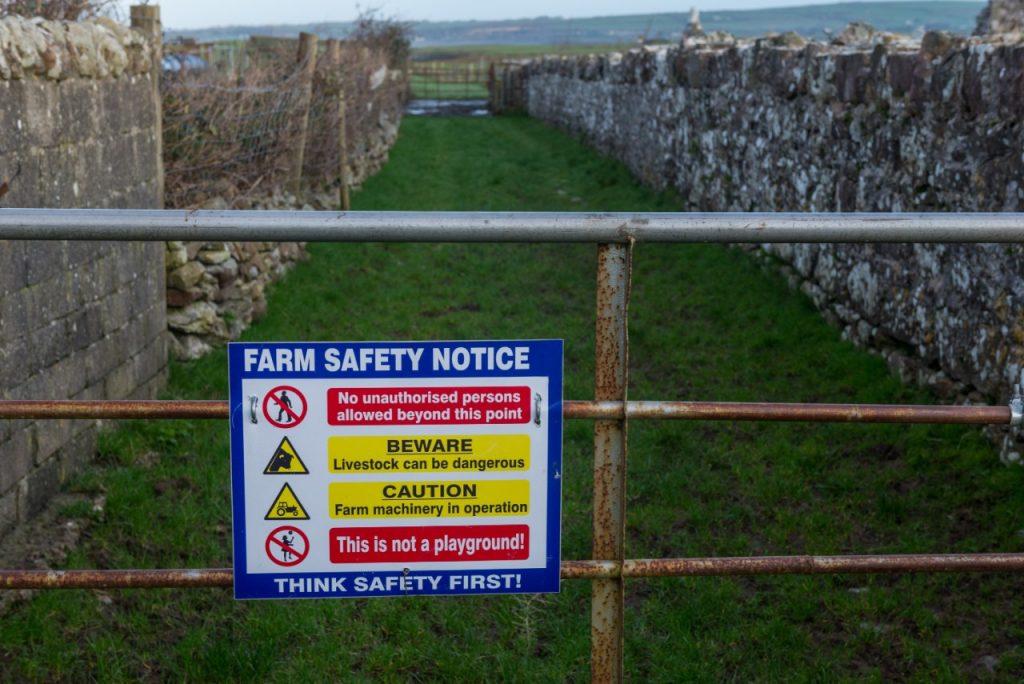 Farm Safety Notice signage