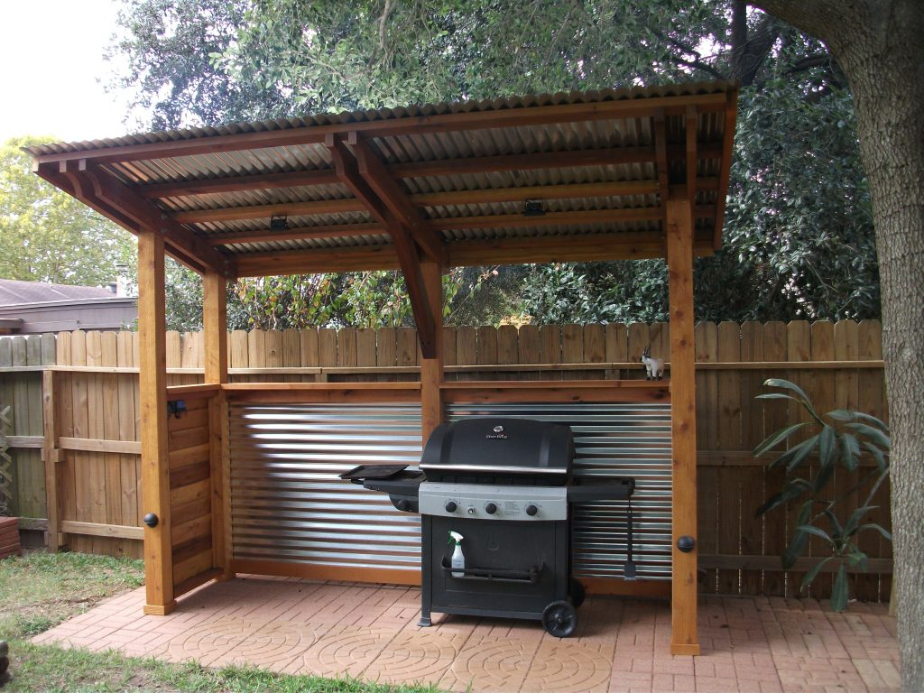 DIY Covered BBQ area